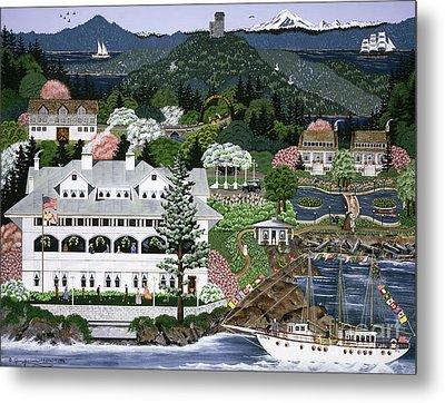 Metal Print featuring the painting Rosario Resort by Jennifer Lake