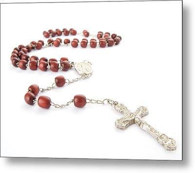 Rosary Beads Metal Print by Jose Elias - Sofia Pereira