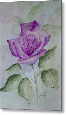 Rose 3 Metal Print by Nancy Edwards