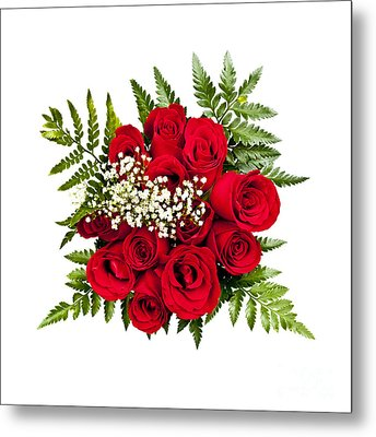 Rose Bouquet From Above Metal Print by Elena Elisseeva
