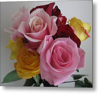 Metal Print featuring the photograph Rose Bouquet by Margaret Newcomb