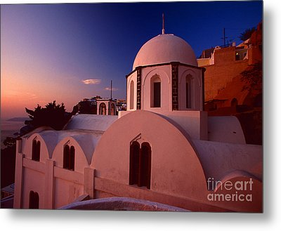 Rose Color Church Metal Print by Aiolos Greek Collections