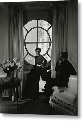 Rose Hobart Standing By A Window Metal Print by Edward Steichen