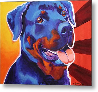 Rottweiler - Baloo Metal Print by Alicia VanNoy Call