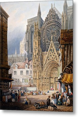 Rouen Cathedral Metal Print by Samuel Prout