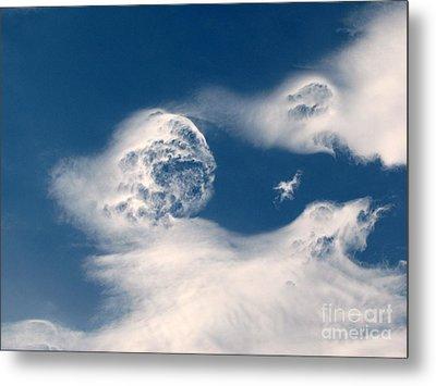 Round Clouds Metal Print by Leone Lund