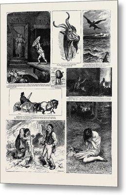 Round The Yule Log Norwegian Folk And Fairy Tales Legends Metal Print
