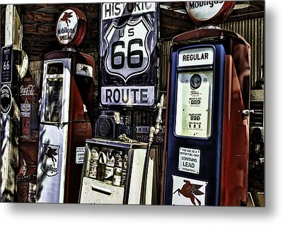 Metal Print featuring the painting Route 66 by Muhie Kanawati
