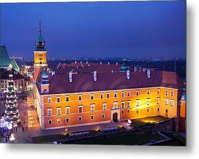 Royal Castle In Warsaw At Night Metal Print by Artur Bogacki