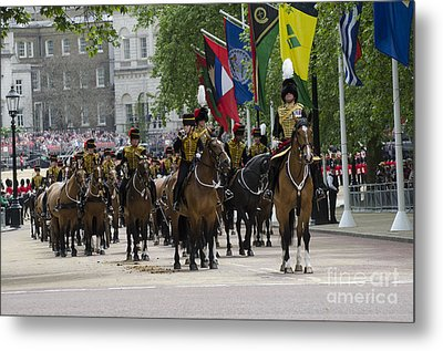 Royal Horse Guards Of The Cavalry Metal Print by Andrew Chittock