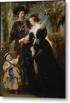 Rubens, His Wife Helena Fourment Metal Print by Peter Paul Rubens