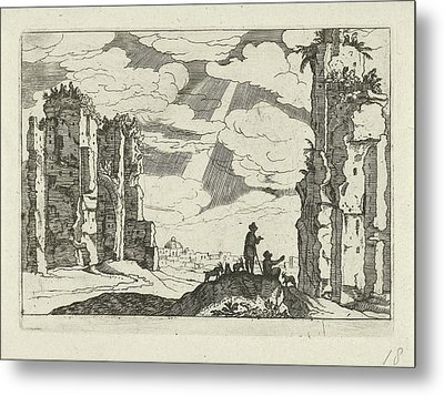 Ruins Of The Baths Of Caracalla, Willem Van Nieulandt II Metal Print