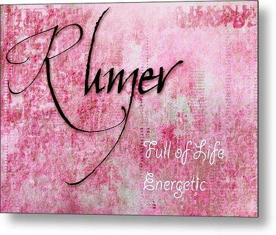 Rumer - Full Of Life Energetic. Metal Print by Christopher Gaston