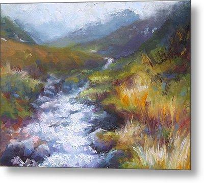 Running Down - Landscape View From Hatcher Pass Metal Print by Talya Johnson
