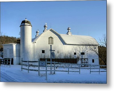 Metal Print featuring the photograph Rural Winter Whites And Blues by Gene Walls