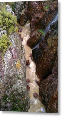 Metal Print featuring the photograph Rushing Crevasse by Fortunate Findings Shirley Dickerson