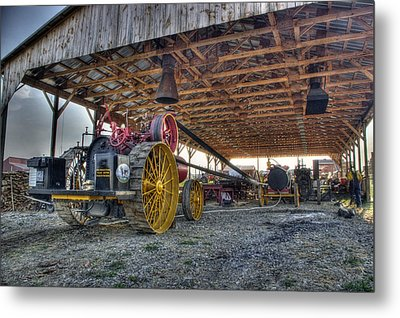 Russell At The Saw Mill Metal Print by Shelly Gunderson