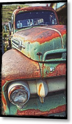 Rust Or Bust Metal Print by Justin  Curry