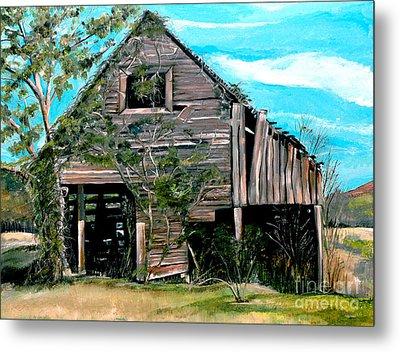Rustic Barn - Mooresburg - Tennessee Metal Print by Jan Dappen