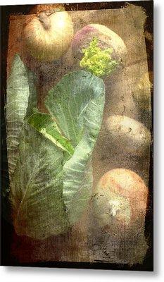 Rustic Vegetable Fruit Medley IIi Metal Print