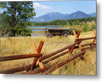 Rustic Wagon Metal Print by Marty Koch