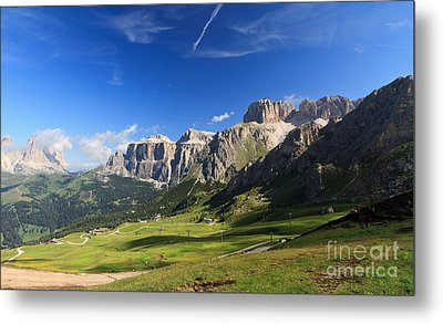 Saas Pordoi And Fassa Valley Metal Print by Antonio Scarpi