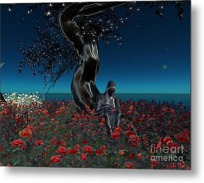 Metal Print featuring the digital art Sad And Lonely by Susanne Baumann