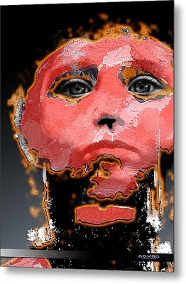 Metal Print featuring the digital art Sad Eyes by A Dx