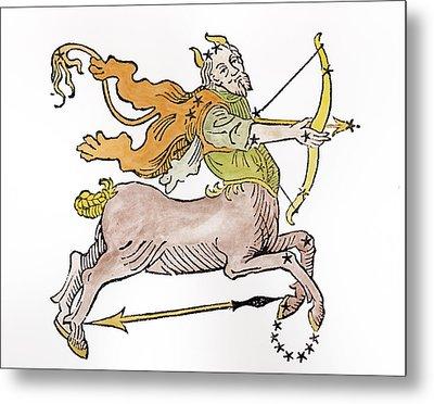 Sagittarius An Illustration Metal Print by Italian School