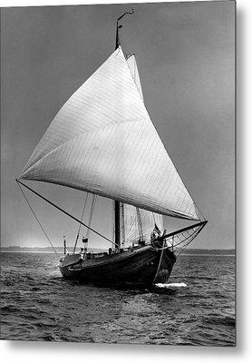 Sailboat Coming Into View Metal Print