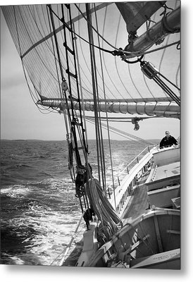 Sailing Before The Wind Metal Print