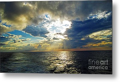 Sailing By Heaven's Door Metal Print by Alison Tomich