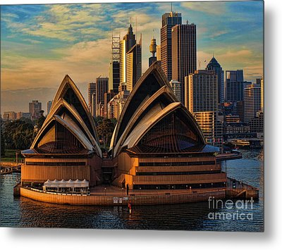 sailing by the Opera House Metal Print