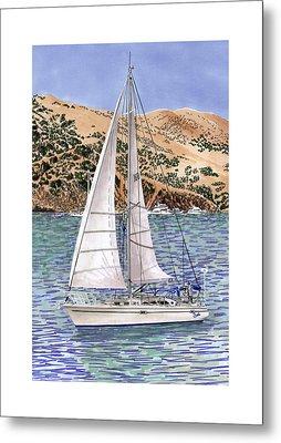 Sailing Catalina Island Sailing Sunday Metal Print by Jack Pumphrey