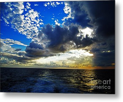 Sailing North Metal Print by Alison Tomich