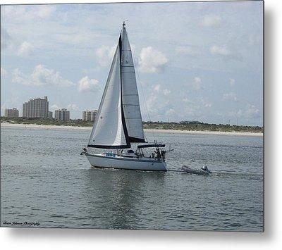 Sailing Ponce Inlet Florida Metal Print by Brian Johnson