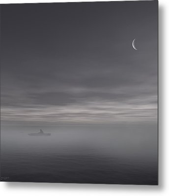 Sailing Solitude Metal Print by Lourry Legarde