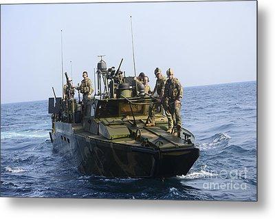 Sailors Conduct Patrol Operations Metal Print by Stocktrek Images