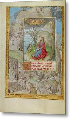 Saint John On Patmos Master Of The Lübeck Bible Bruges Metal Print
