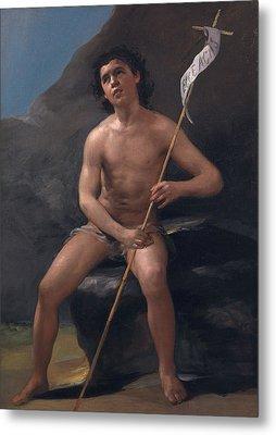 Saint John The Baptist As A Child In The Desert Metal Print by Francisco Goya