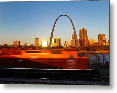 Saint Louis Morning Train Metal Print by David Yunker