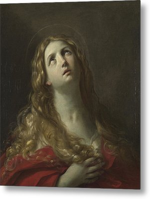 Saint Mary Magdalene Metal Print by Guido Reni