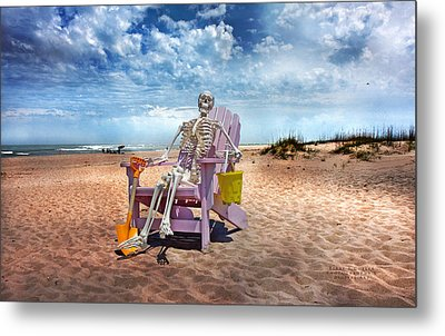 Sam Discovers Bald Head Island Metal Print by Betsy Knapp