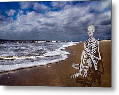 Sam Looks To The Ocean Metal Print