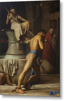 Samson And The Philistines Metal Print by Carl Bloch