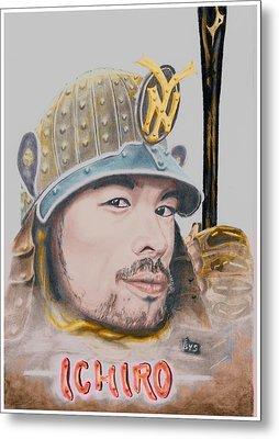 Samurai Ichiro Metal Print by Bas Van Sloten