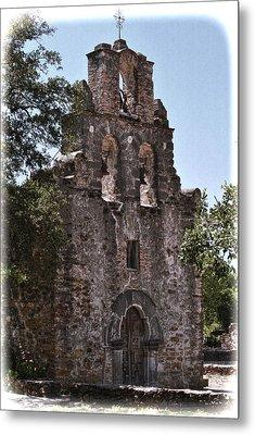 San Antonio Mission Metal Print by Kathy Williams-Walkup