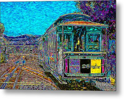 San Francisco Cablecar - 7d14097 Metal Print by Wingsdomain Art and Photography