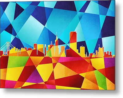 San Francisco California Skyline Metal Print