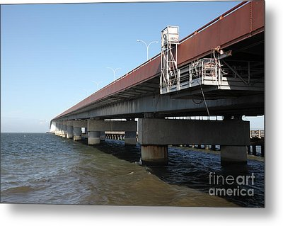 San Mateo Bridge In The California Bay Area 5d21900 Metal Print by Wingsdomain Art and Photography